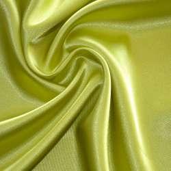 Атлас стрейч шамус салатово-желтый пл.130 г/м ш.150