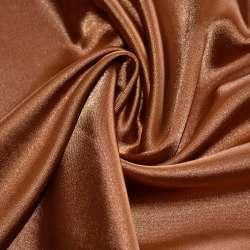 Атлас стрейч шамус коричневый ш.150
