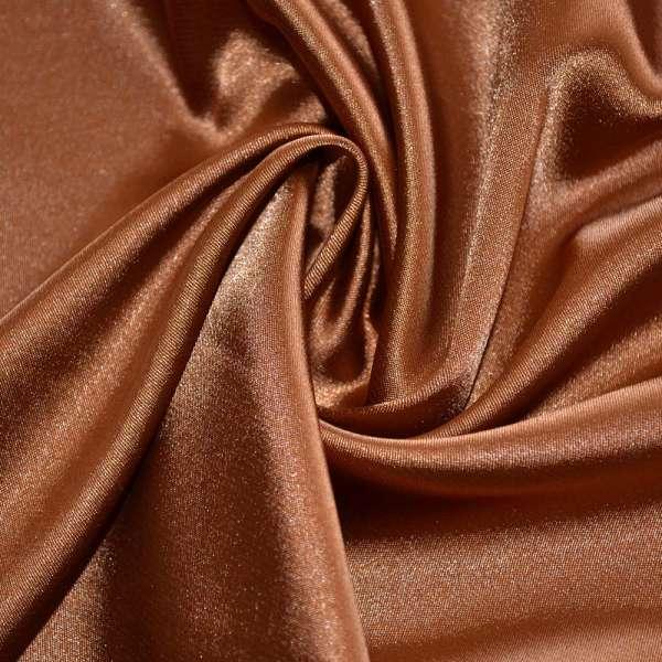 Атлас стрейч шамус коричневый ш.150 оптом