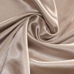 Атлас стрейч шамус коричнево-молочный пл.130 г/м ш.150
