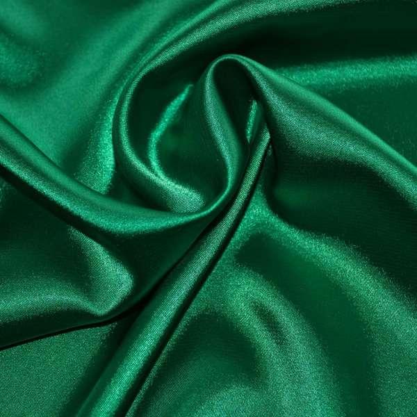 Атлас стрейч шамус зеленый пл.130 г/м ш.150 оптом