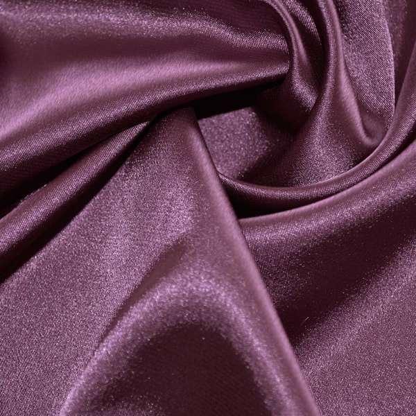 Атлас стрейч шамус темно-сиреневый перламутр пл.130 г/м ш.150 оптом