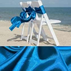 Атлас стрейч шамус сине-голубой пл.130 г/м ш.150
