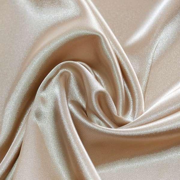 Атлас стрейч шамус светло-бежевый с коричневым оттенком пл.130 г/м ш.150 оптом