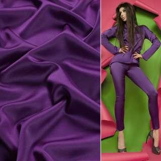 Атлас матовий фіолетовий стрейч ш.150 оптом