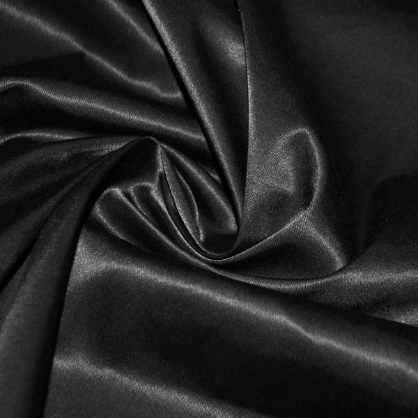 Котон атлас черный ш.145 оптом