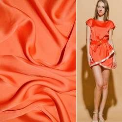 Шелк японский оранжево-красный ш.150