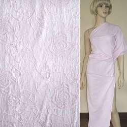 Батист розовый светлый с вышивкой ш.145