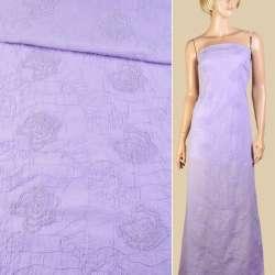 Батист фиолетовый светлый с вышивкой ш.145