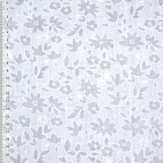Батист белый с цветами деворе ш.150 оптом