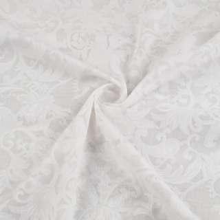 Батист білий з листям деворе ш.150 оптом