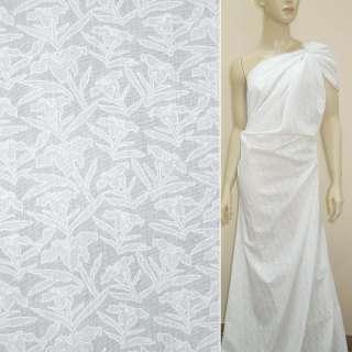 Батист деворе белый лилия ш.140 оптом