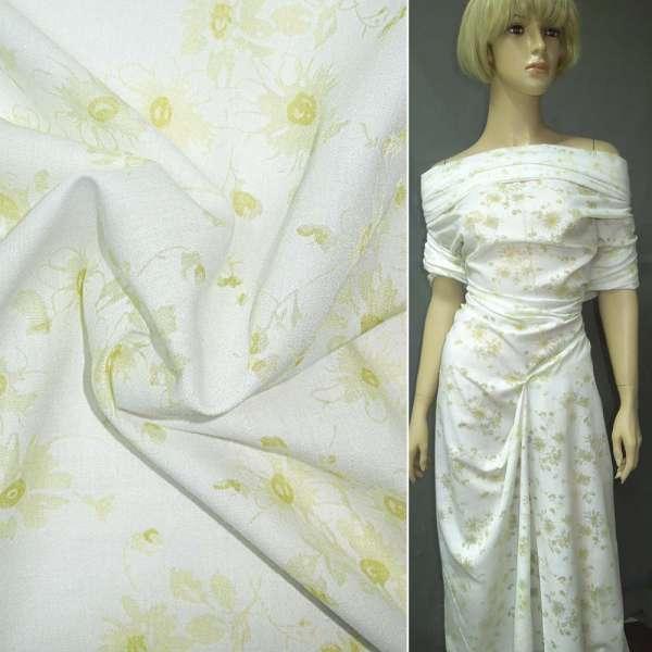 Батист деворе белый с желтыми цветами ш.150 оптом