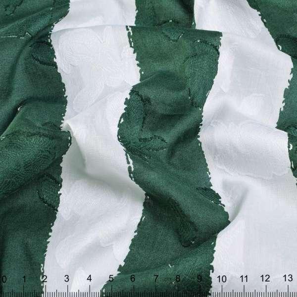 Батист Девора білий в темно-зелену смужку 4,5 см ш.140 оптом