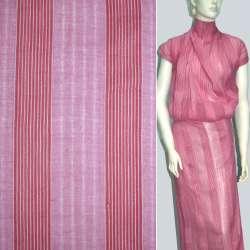 """Батист """"комби"""" розовый в полоску, ш.150"""