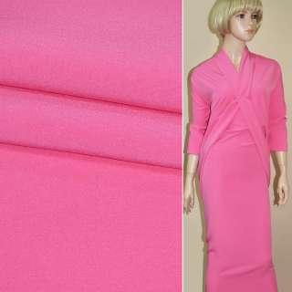 Креп костюмный бистрейч ярко-розовый ш.150 оптом