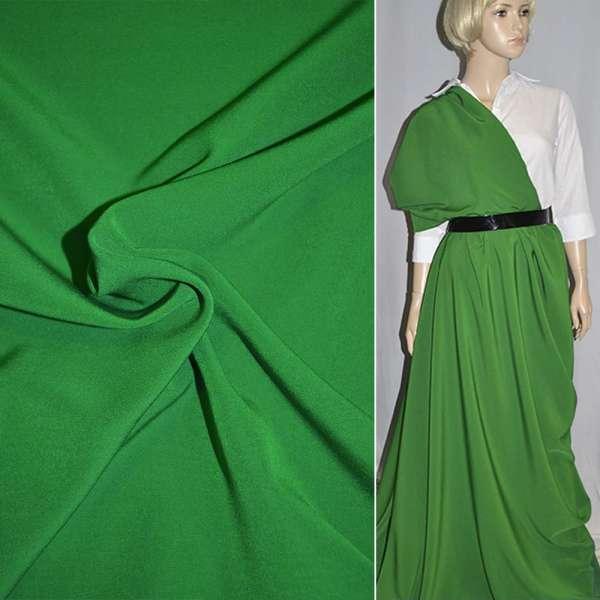 Креп костюмный бистрейч зеленый (оттенок) ш.150 оптом