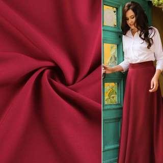 Креп костюмный бистрейч вишневый ш.150 оптом