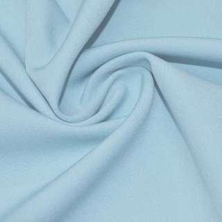 Креп костюмный бистрейч голубой светлый ш.150 оптом