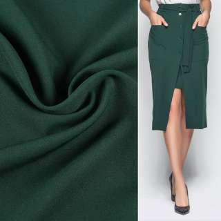 Креп костюмний бістрейч зелений темний ш.150 оптом