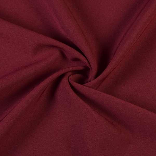 Креп костюмный бистрейч бордовый ш.150 оптом