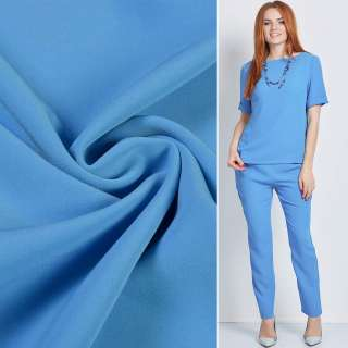 Креп костюмный бистрейч голубой ш.150 оптом