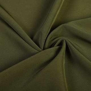 Креп костюмный бистрейч болотный ш.150 оптом