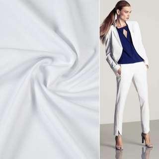 Ткань костюмная бистрейч белая ш.150 оптом