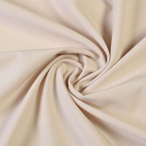Ткань костюмная бистрейч молочно-бежевая ш.150 оптом