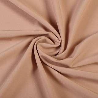 Ткань костюмная бистрейч бежево-розовая ш.150 оптом