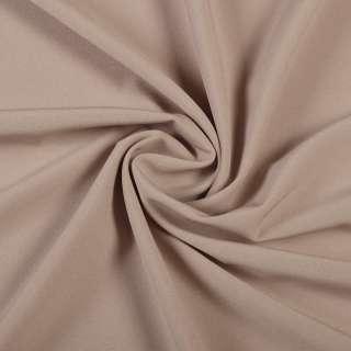 Ткань костюмная бистрейч бежевая с розовым оттенком ш.150 оптом