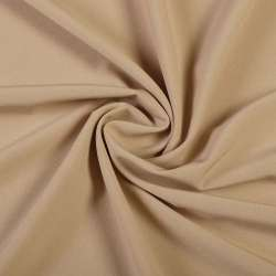 Ткань костюмная бистрейч бежевая ш.150 оптом