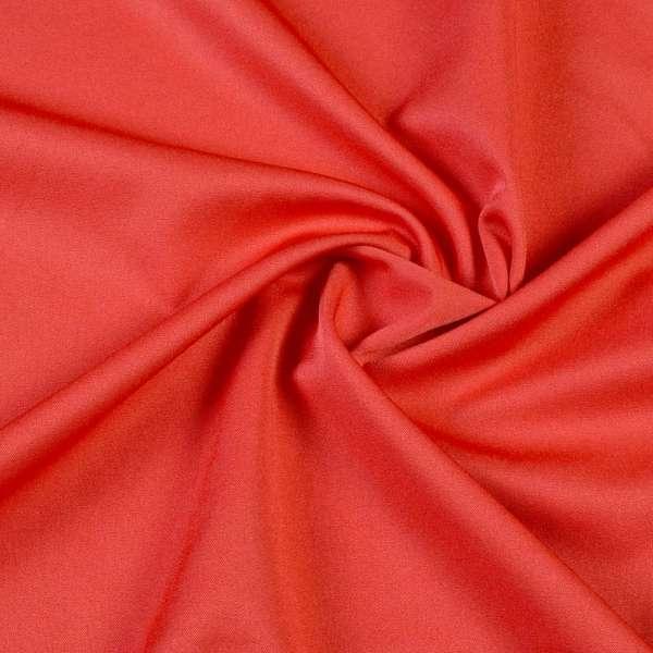 Ткань костюмная бистрейч красно-оранжевая ш.150 оптом