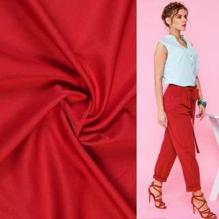 Ткань костюмная бистрейч красная ш.150 оптом
