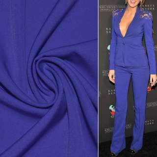 Ткань костюмная бистрейч синяя (электрик) ш.150 оптом
