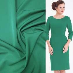 Ткань костюмная бистрейч зеленая ш.150 оптом