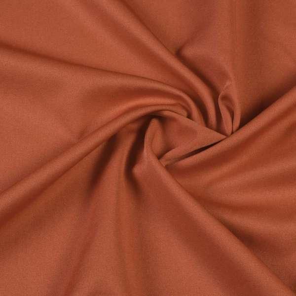 Ткань костюмная бистрейч ржаво-коричневая ш.150 оптом
