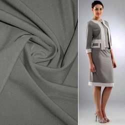 Ткань костюмная бистрейч серая ш.150 оптом