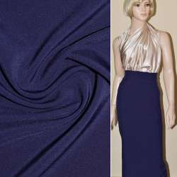 Ткань костюмная бистрейч синяя ш.150 оптом