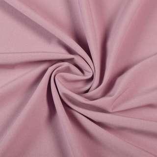Ткань костюмная бистрейч розово-серая ш.150 оптом