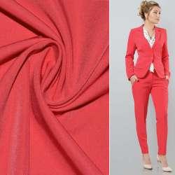 Ткань костюмная бистрейч красно-малиновая ш.150 оптом