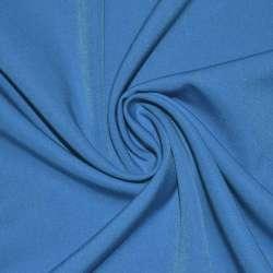 Ткань костюмная бистрейч сине-голубая ш.150 оптом