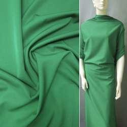 Ткань костюмная бистрейч зеленая темная ш.150