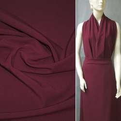 Ткань костюмная бистрейч темно-бордовая ш.150