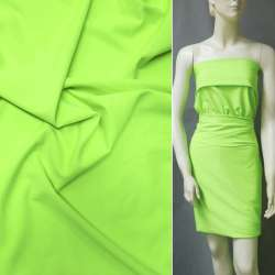 Ткань костюмная бистрейч салатовая ш.150 оптом
