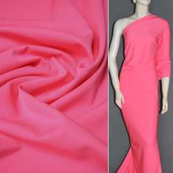 Ткань костюмная бистрейч розовая (ультра) ш.150