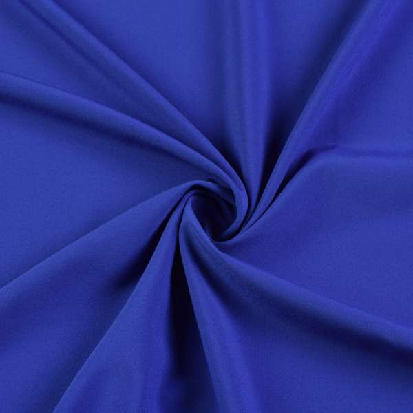Ткань костюмная бистрейч синяя, ш.150 оптом