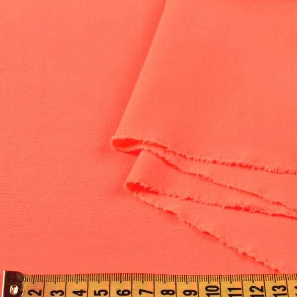 Бистрейч плательный оранжевый неон, ш.150 оптом
