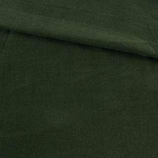 Микровельвет зеленый темный однотонный не стрейч, ш.145 оптом