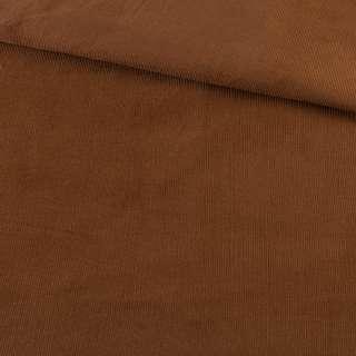 Микровельвет коричневый однотонный не стрейч, ш.145 оптом